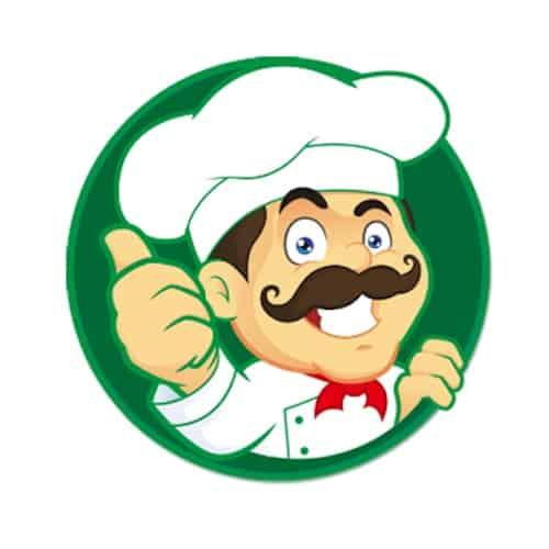 Chef della pulizia su sfondo verde